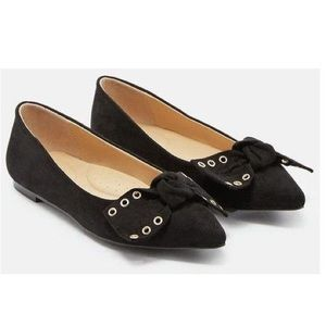JustFab Women's Black Tessa Flats